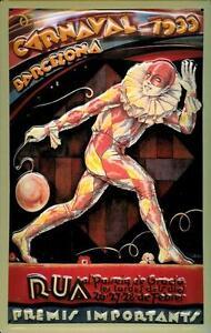 Carnaval-Barcelona-1933-Letrero-de-Metal-3D-en-Relieve-Metal-Tin-Sign-20-X-30CM