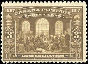 1917-Mint-NH-Canada-F-Scott-135-3c-50th-Anniversary-Issue-Stamp
