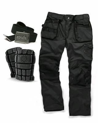 SCRUFFS Trade 3d Work Trousers 30-40 Waist 30 32 34 Leg GREY KNEEPADS /& BELT
