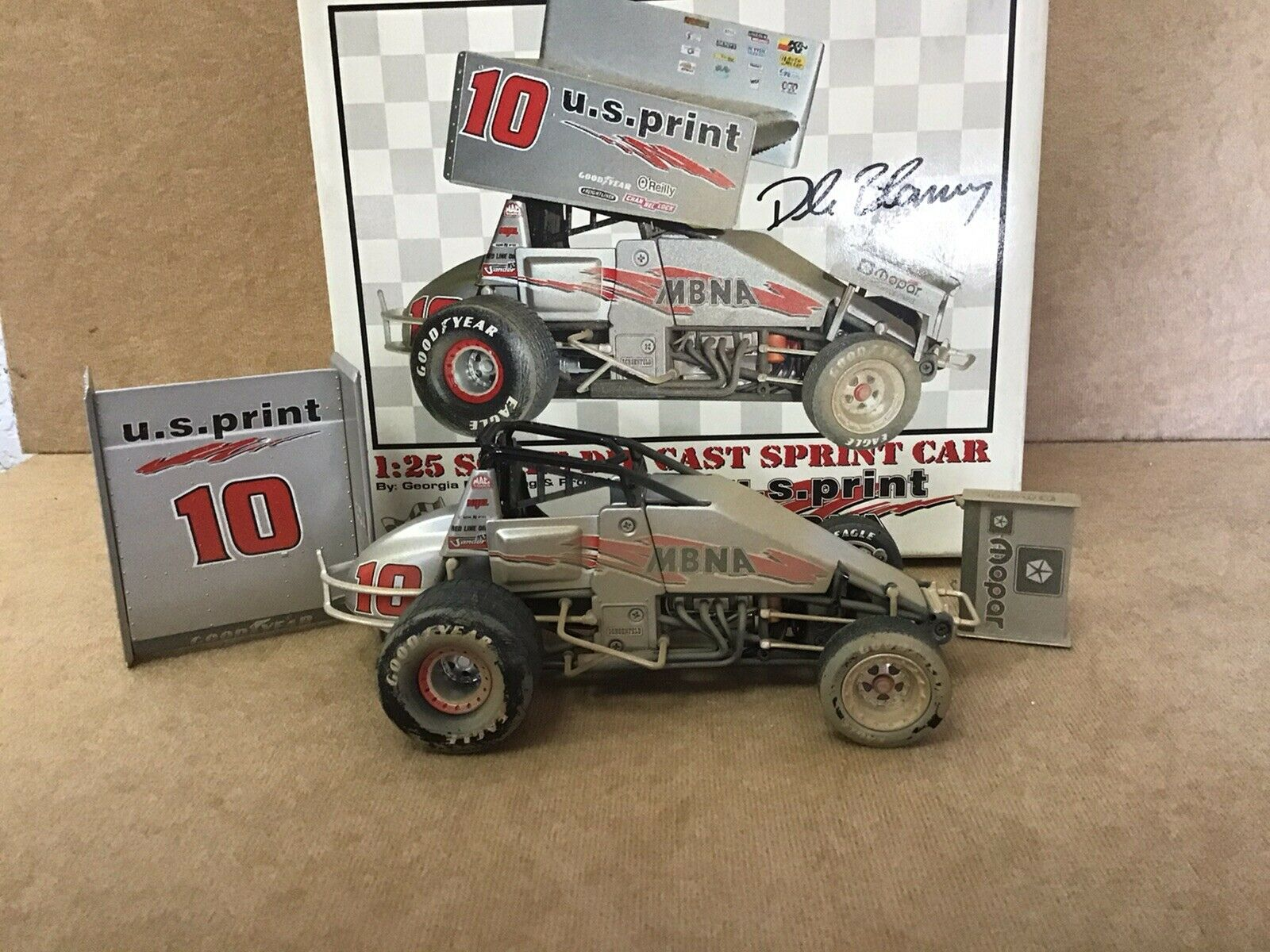 Dale Blaney 1 25 Scale U.S. Eindruck MBNA Sprintcar, Raced Dirty  Version, GMP