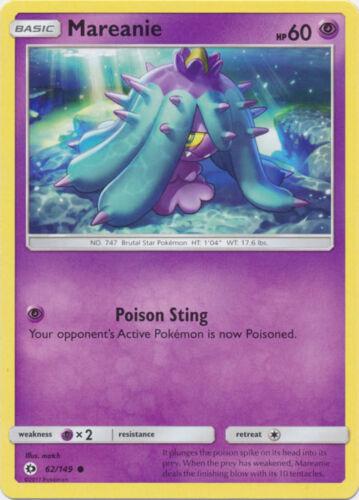 x4 Mareanie Common Pokemon SM1 Sun /& Moon Base M//NM English 62//149