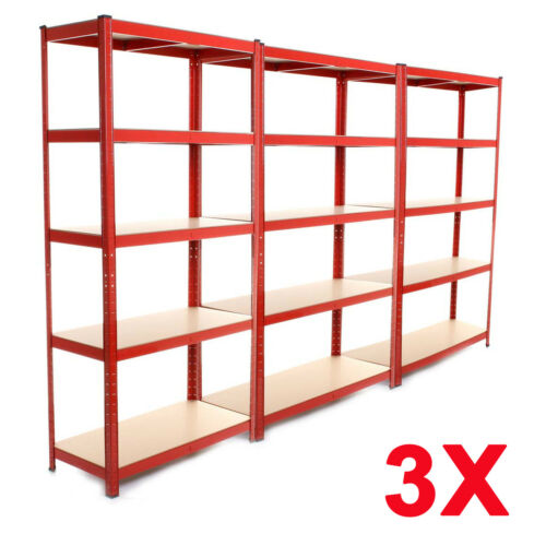 Racking Bays 5 Tier Freestand Garage Shelving Heavy Duty Storage Rack 3 Units