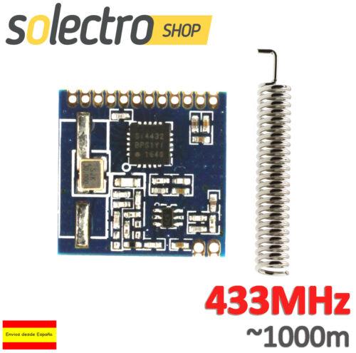 SI4432 433MHz Wireless Transceiver RF Radio 1km Emisor Arduino Telemetría W0075