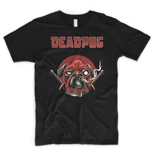 Deadpool Pug T Shirt Marvel DC Parody Animals Are Friends Dog Lover Spiderman