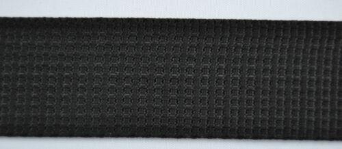 50 M de cinturón banda negro 30 mm de ancho