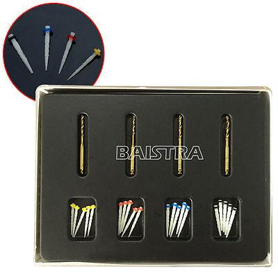 Sale Dental AAA Fiber Posts Resin High-intensity Screw Thread Glass & 4 Drills
