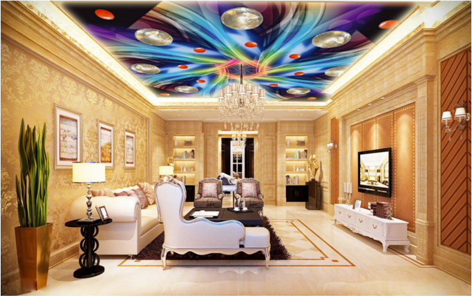3D Gorgeous Pattern 74 Ceiling Wall Paper Print Wall Indoor Wall Murals CA Carly