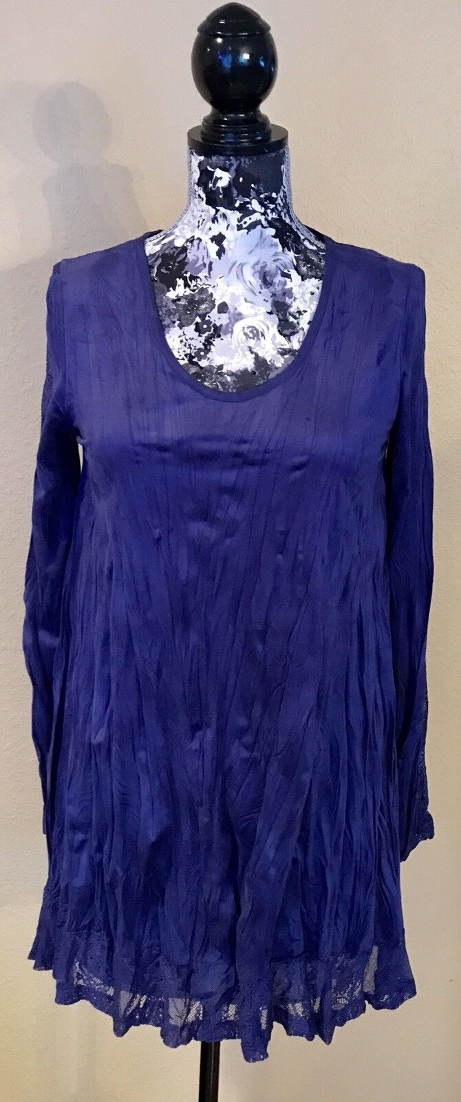Beautiful French LAUREN VIDAL Größe XS Iris Suede Blend Tunic Dress orig.