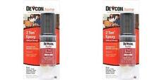 2 PACKS  DEVCON S31 31345 CLEAR 2 TON STRENGTH EPOXY GLUE WATERPROOF ADHESIVE