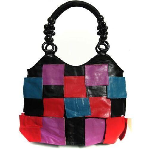 Ladies Women/'s Multi colour Bead Layered Petal Shoulder Handbag Stylish Handbags