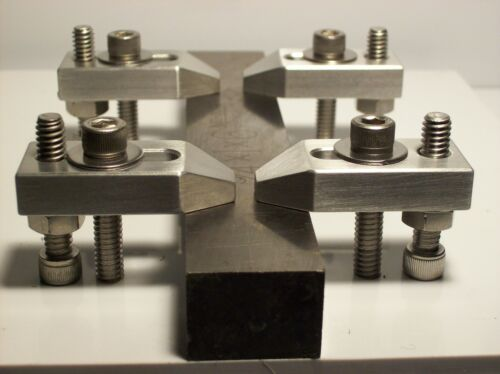 """NO HARDWARE 5//16-18 1 INCH /""""WIDE BODY/"""" ALUMINUM CLAMP SET OF FOUR"""