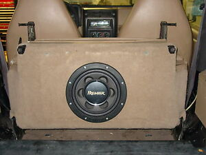 In Seat Subwoofer Box With Amp Mounting Location For 97 02