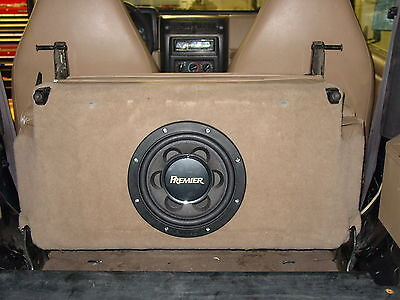In-Seat Subwoofer Box for 97-02 Jeep Wrangler - Add Bass without losing storage!