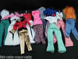 1x BARBIE DOLL DRESS CLOTHING JEANS TROUSERS TOP BLOUSE OUTFIT & SHOES UKSELLER