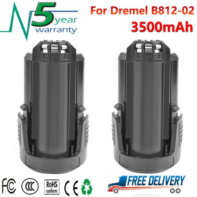2X 12V 3.5Ah Li-Ion Recharge Battery For Dremel B812-02 8300 8220 8200 Rotary GM