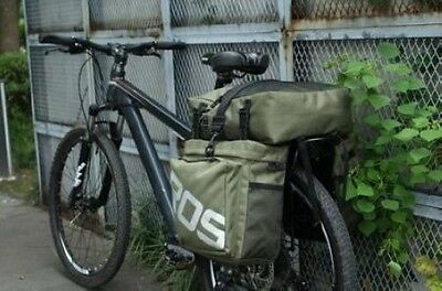 Army Green Roswheel Travel Pannier Bag Rear Rack Waterproof Cycling Bike Trunk