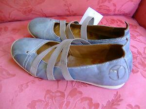 TELYOH-Damenschuhe-Gr-37-grau-NEU-mit-Etikett-Leder-aussen-und-innen
