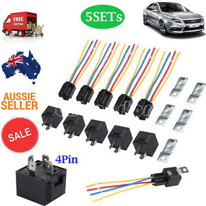 Details about 5Pcs 12V Car SPDT Automotive Relay DC 4 Pin 4 Wires W/ on