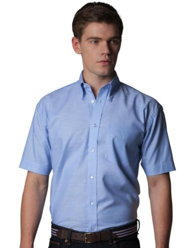 Kustom Kit KK100 Mens boys short sleeve shirt office casual work Workwear NEW