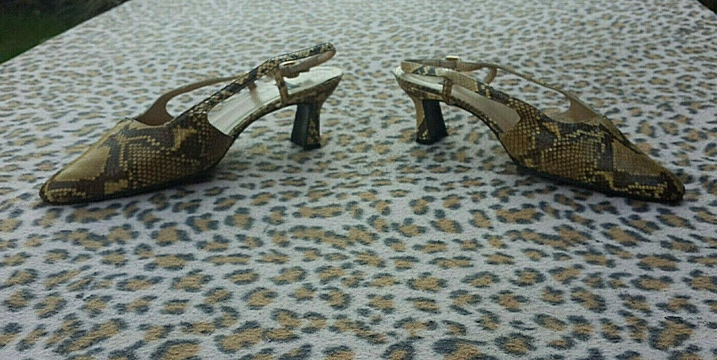 Stuart Weitzman Vintage snakeskin shoes size 37, UK 4