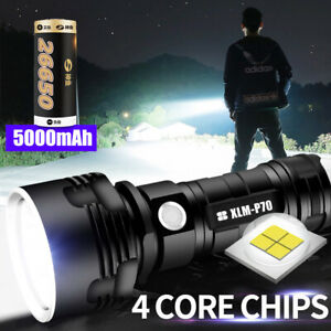 Super-bright-90000lm-Flashlight-LED-P70-L2-Tactical-Torch-Light-26650-Battery