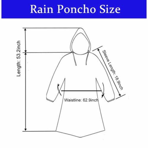 Jetable Urgence Pluie Poncho pour Adultes Pack de 10