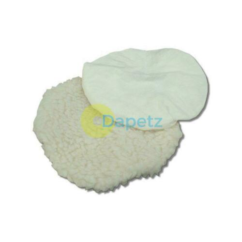 240mm Polishing Bonnets Lambs Wool /& Terry Valeting Buffer Pads PACK OF 2