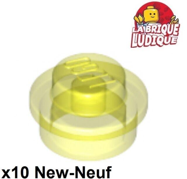 Flat Silver Plate LEGO x 10 4073 NEUF Round 1x1 Straight Side