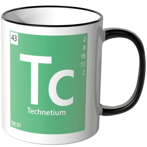 """WANDKINGS Tasse Periodensystem /""""Tc Farben Geschenk Chemie Technetium/"""" ver"""