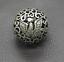 thumbnail 2 - Old Chinese Tibetan silver Dragons and phoenixes Handball Round ball