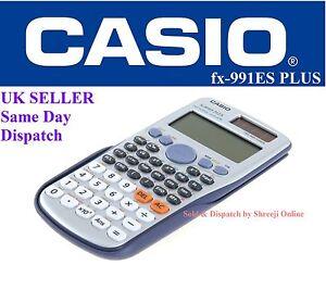 CASIO-FX-991ES-PLUS-SCIENTIFIC-CALCULATOR-for-A-Level-amp-GCSE-039-s-Fast-Shipping