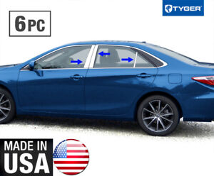 Works With 05-2012 Toyota Avalon 6 PC Stainless Steel Chrome Pillar Post Trim Made in USA