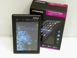 "Polaroid Internet Tablet PMID702C 7"" Android 2.3 4GB Black Tablet (Works) E"