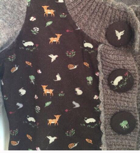 Cute On Sleeping M Animals Autumn Mix Anthropologie Sz Snow Lana Sweater Brown 5Atdnnwq