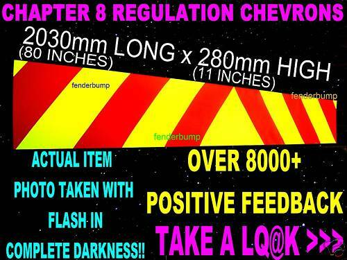 MAGNETIC CHAPTER 8 CHEVRONS RECOVERY TRUCK TAILGATE 4X4 TRANSIT CREW CAB VAN CAR