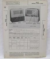 Vintage Sams Photofact Folder Delco Models R-1408 and R-1409 Radio Parts Manual