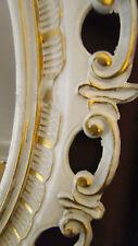 Bilderrahmen OVAL WEIß GOLD OVAL ANTIK BAROCK 58X68 Neu Bilderrahmen xxl groß