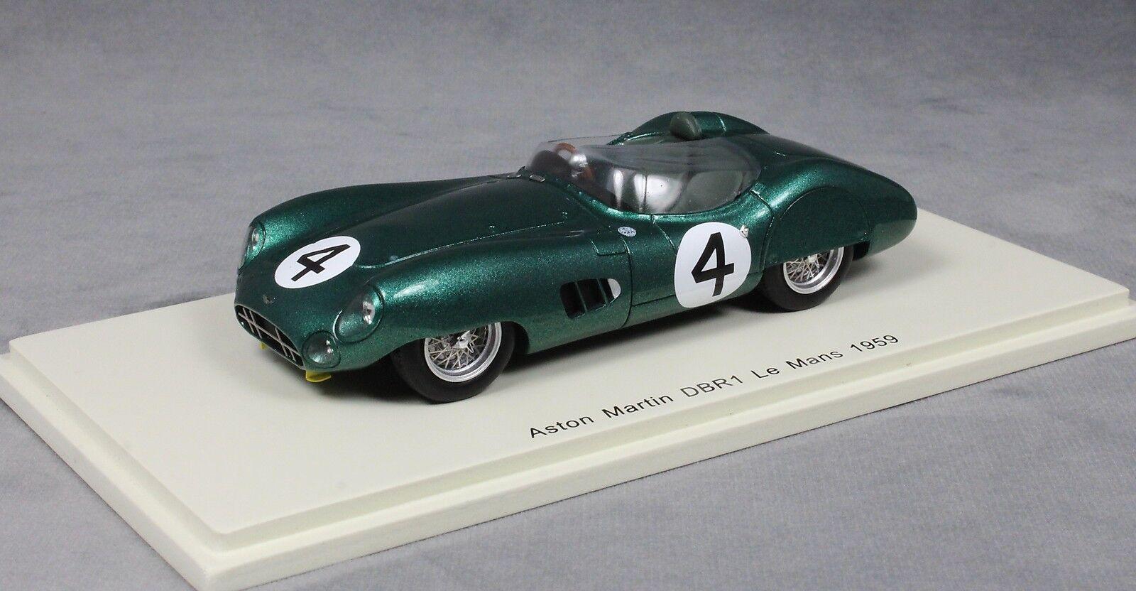 SPARK Aston Martin DB1 Le Femmes 24 h 1959 Stirling MOSS & Jack FairFemme S2438 1/43 | Forme élégante