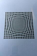 Geometría de patrón ilusión A4 Mylar reutilizable Plantilla Aerógrafo Pintura Arte Craft