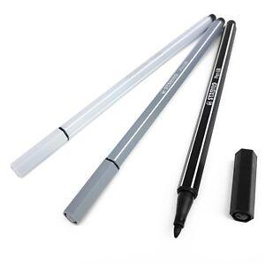 STABILO-PEN-68-Fibre-Tip-Pens-Assorted-Set-of-3-Colours-Monochrome-Tones