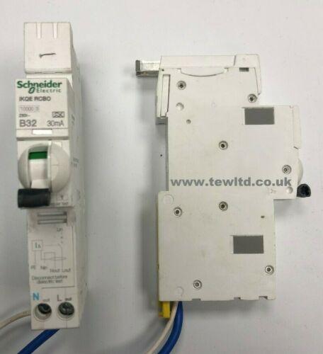 Schneider Square D ACTI 9 RCBO ikqe voir 6 10 16 20 32 40 amp type b/&c utilisé