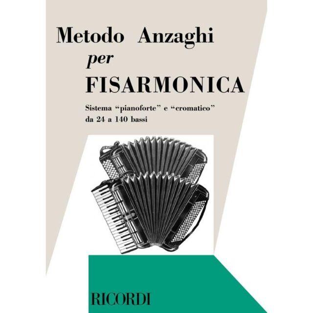 Anzaghi Ricordi Metodo Completo Teorico-Pratico Progressivo per Fisarmonica