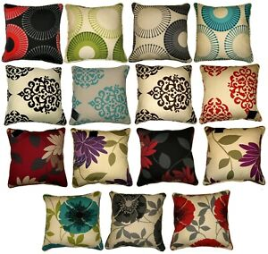 Cushion-Covers-Size-18-x-18-Printed-100-Percale-Cotton-Decorative-Floral-Circle