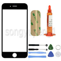 Black Front Screen Glass Replacement + UV LOCA Glue + tool kit for iPhone 6 Plus
