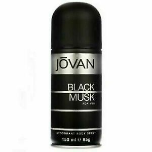 Jovan Black Musk Deodarant Body Spray For Men 150 ml 5.07oz