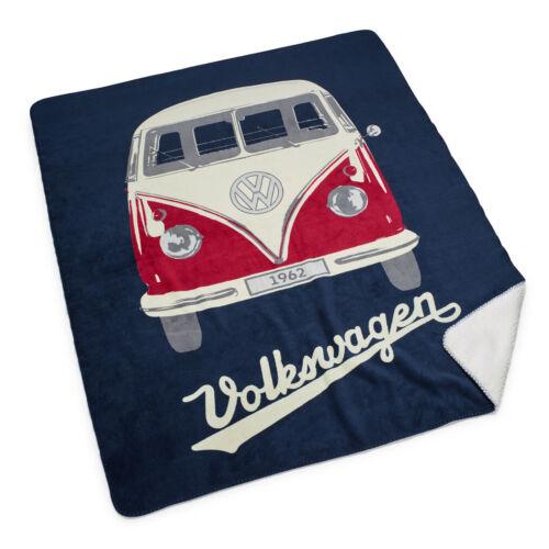 Original Volkswagen Bulli T1 Picknickdecke 150x130 cm blau 7E9084503