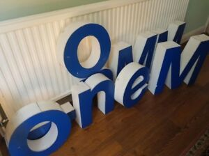Details about Illuminated perspex lettering - 9 letters in total used as  illuminated signs