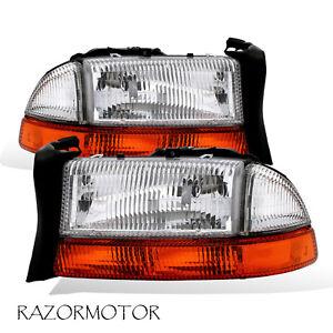 Details About 1998 03 04 Replacement Headlight Parking Signal Pair For Durango Dakota W Bulb
