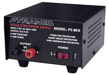 NEW Pyramid PS8KX AC to DC 8 Amp 12V Fully Regulated Low Ripple Power Supply