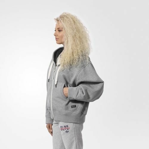 180  Adidas WOMEN ORIGINALS ZIP HOODIE CORE HEATHER AB0549 AB0549 AB0549 S SMALL SIZE 588f42